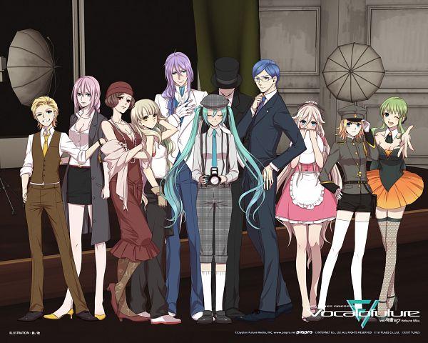 Tags: Anime, Suzunosuke, VOCALOID, KAITO, MAYU (VOCALOID), Hatsune Miku, GUMI, Kagamine Len, IA, Kamui Gakupo, Kagamine Rin, MEIKO (VOCALOID), Megurine Luka