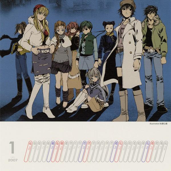 Tags: Anime, Yanoguchi Kimi, Nitro+, 2006 Nitro+ Calendar, Phantom of Inferno, Azuma Reiji, Cal Devens, Elen, Calendar 2006, Calendar (Source)