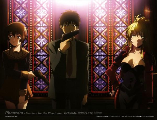 Tags: Anime, Sasaki Mutsumi (Bee Train), Nitro+, Phantom: Requiem For The Phantom - Official Complete Book, Phantom of Inferno, Cal Devens, Elen, Azuma Reiji, Official Art