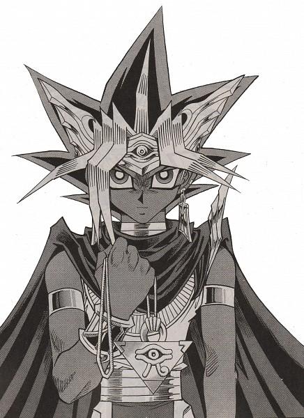Tags: Anime, Yu-Gi-Oh! Duel Monsters, Yu-Gi-Oh!, Yami Yugi, Pharaoh Atem, Mobile Wallpaper, Manga Page, Scan