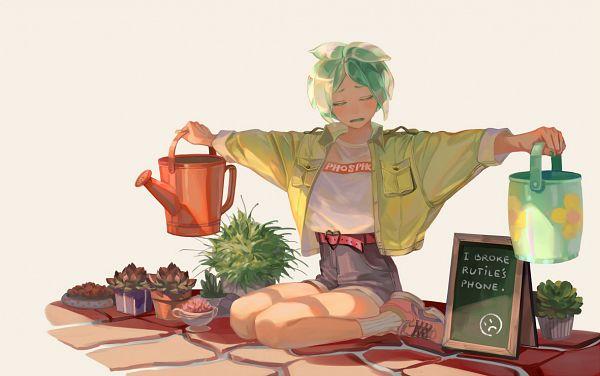 Tags: Anime, Taro-k, Houseki no Kuni, Phosphophyllite (Houseki no Kuni), Pixiv, Fanart, Fanart From Pixiv