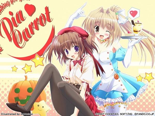 Tags: Anime, Maruchan, Cocktail Soft, Pia Carrot, Aizawa Tonomi, Kinoshita Rumi, Parfait, Wallpaper, Welcome To Pia Carrot!!