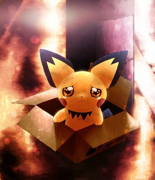 Tags: Anime, Coken, Pokémon, Pichu, In a Box, Pixiv