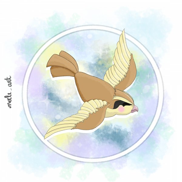 Tags: Anime, Noele Art, Pokémon Red & Green, Pokémon, Pidgey, Fanart From DeviantART, Fanart, deviantART, Self Made