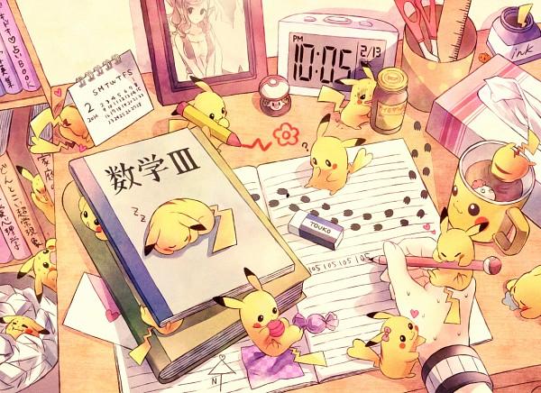 Tags: Anime, Kabocha Torute, Pokémon, Touko (Pokémon), Pikachu, Ink, Eraser, Crayon, Tissue, Trash, Fanart From Pixiv, Fanart, Pixiv