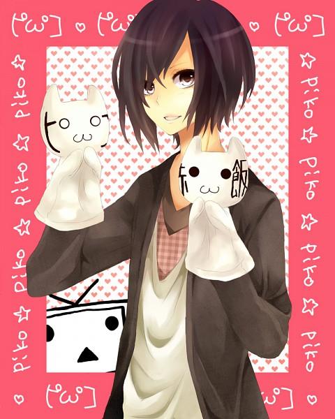 Tags: Anime, Yth, Pikochu, Nyaahan, Piko, Terebi-chan, Emoticons, Nico Nico Singer, Pixiv, Fanart, Nico Nico Douga