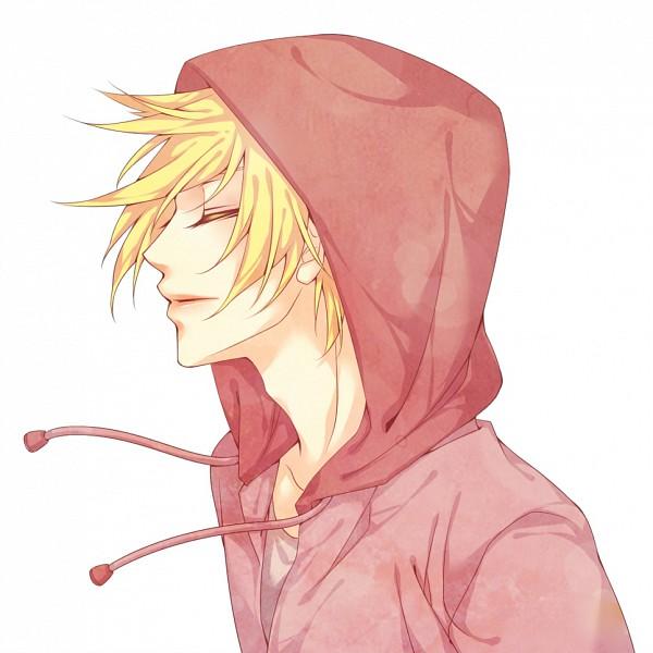 Tags: Anime, Natsuki0910, VOCALOID, Kagamine Len, Pink Outerwear, Pink Jacket, Pink Rose (Song), Fanart, Pixiv