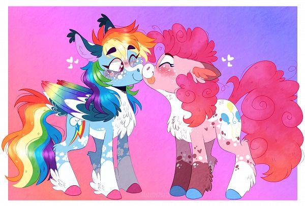 Tags: Anime, WanderingPegasus, My Little Pony, Rainbow Dash, Pinkie Pie, Pony, Cutie Mark, Fanart From DeviantART, deviantART, Fanart, Pinkiedash
