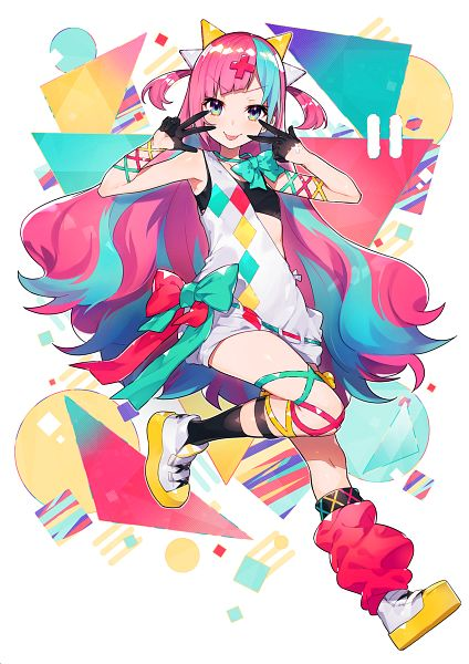 Tags: Anime, Mika Pikazo, Pinky Pop Hepburn Official, Pinky Pop Hepburn, Cover Image, Official Art