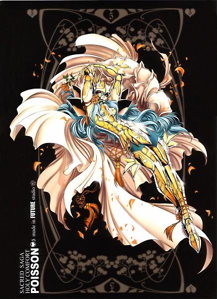 Tags: Anime, Future Studio, Saint Seiya, Sacred Saga, Pisces Aphrodite, Mobile Wallpaper, Gold Saints