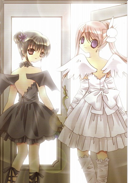 Tags: Anime, Koge-Donbo*, Pita Ten, Shia, Misha, Koumorimimi, Official Art