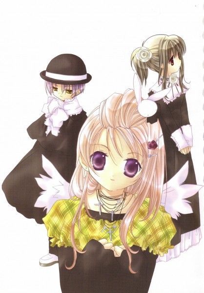 Tags: Anime, Koge-Donbo*, Pita Ten, Shia, Misha, Kotarou Higuchi, Mobile Wallpaper, Official Art