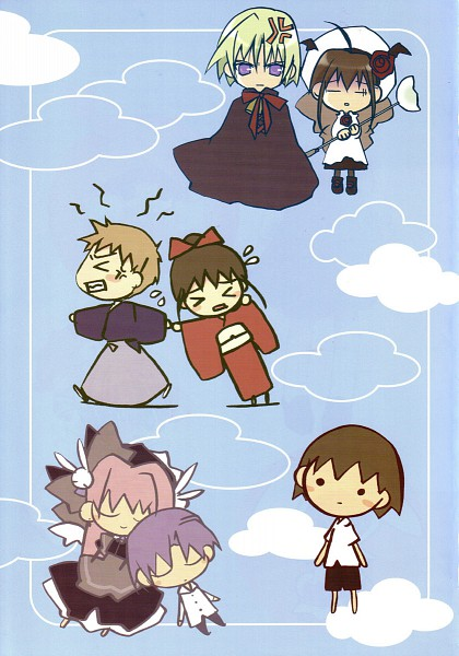 Tags: Anime, Koge-Donbo*, Pita Ten, Ayanokoji Takashi, Misha, Kotarou Higuchi, Shia, Shima Higuchi, Tarou Higuchi, Official Art