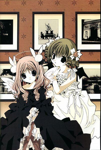Tags: Anime, Koge-Donbo*, Pita Ten, Misha, Shia, Mobile Wallpaper, Official Art, Scan