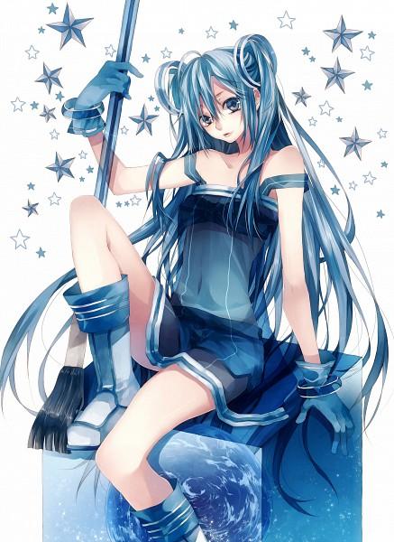 Tags: Anime, Tsukioka Tsukiho, Pixiv-tan, Brush, Pixiv, Mobile Wallpaper