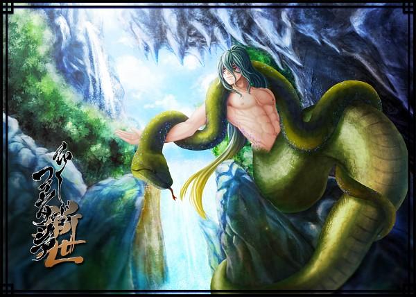 Tags: Anime, Pixiv Id 164623, Waterfall, Lamia, Pixiv Fantasia: New World, Pixiv