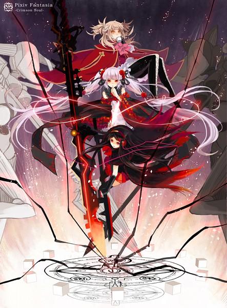 Tags: Anime, Tsukii, Frequency (Pixiv Fantasia V), Hika (Pixiv Fantasia V), Mena (Pixiv Fantasia V), Original, Pixiv Fantasia Ⅴ, Pixiv Fantasia Series, Pixiv