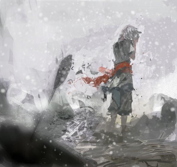 Tags: Anime, Pixiv Id 16577838, Gray, Fog, Pixiv, Pixiv Fantasia