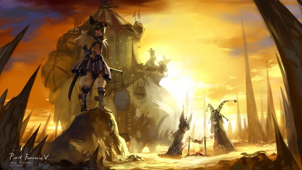 Tags: Anime, Babycat, Yellow, Pixiv, Pixiv Fantasia, Wallpaper, HD Wallpaper