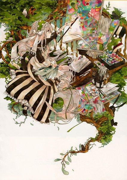 Tags: Anime, Harikamo, Pixiv Girls Collection 2010, Pixiv Girls Collection, Painting (Object), Painting (Action), Detailed, Drawing (Action), Scan, Oekaki Musume, Pixiv, Original, Mobile Wallpaper
