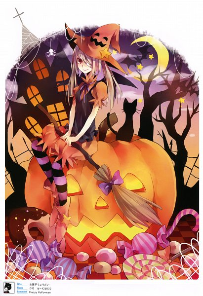 Tags: Anime, Yuzuki Karu, Pixiv Girls Collection, Pixiv Girls Collection 2010, Familiar (Mythology), Candy Cane, Mobile Wallpaper, Original, Scan, Pixiv