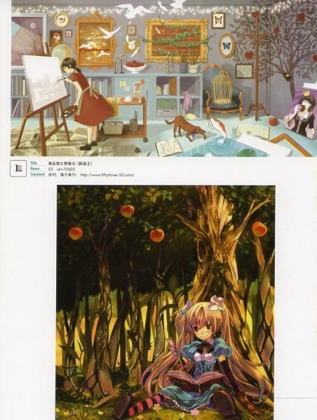 Tags: Anime, GAN (Shanimuni), 53 (Artist), Pixiv Girls Collection 2010, Pixiv Girls Collection, Drawing (Action), Apple Tree, Pixiv