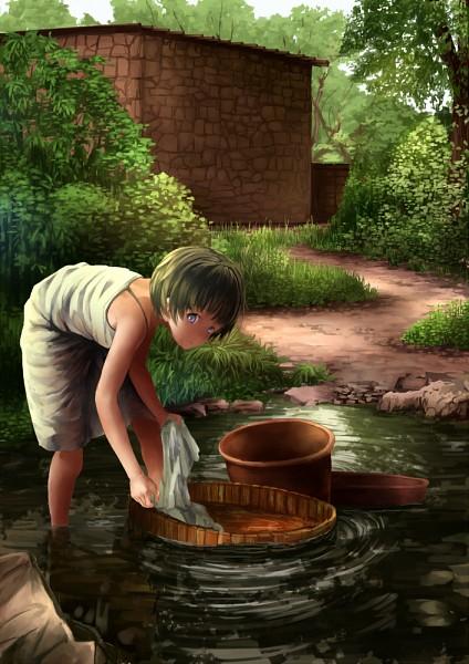 Tags: Anime, Pixiv Id 1035347, Washing, Laundry, Pixiv, Original