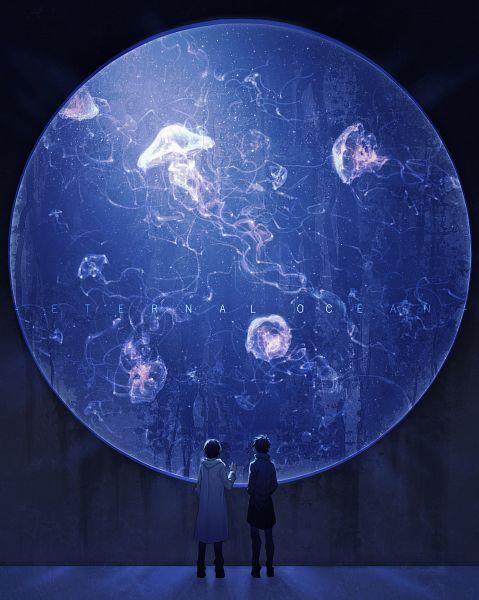 Tags: Anime, Pixiv Id 10489689, Jellyfish, Aquarium, Pixiv, Original