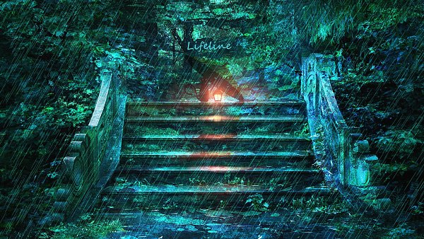 Tags: Anime, Pixiv Id 10885193, Overgrown, Moss, Original, Facebook Cover, Wallpaper, Pixiv