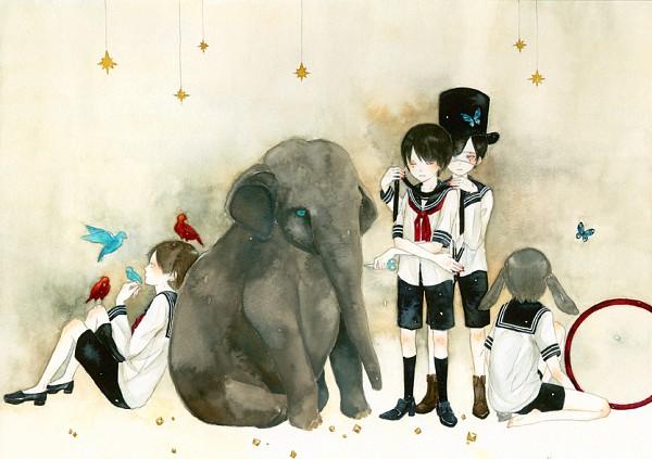 Tags: Anime, Pixiv Id 1213775, Elephant, Pixiv, Original