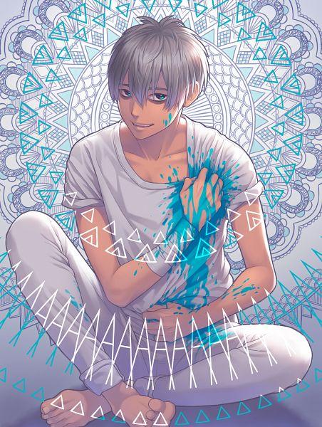 Tags: Anime, Pixiv Id 13988756, Grabbing Shirt, Bandaged Wrist, Bags Under Eyes, Pixiv, Original