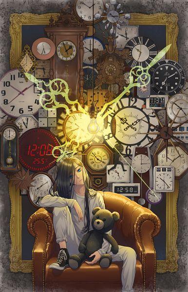 Tags: Anime, Pixiv Id 13988756, Bulb, Converse, Grandfather Clock, Pixiv, Mobile Wallpaper, Original