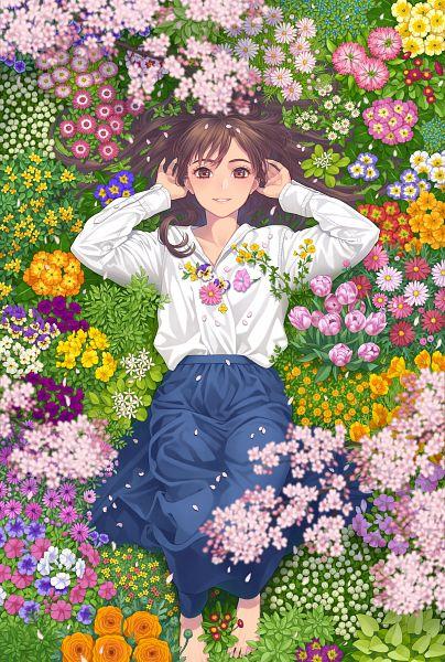 Tags: Anime, Pixiv Id 13988756, Laying on Grass, Pixiv, Original