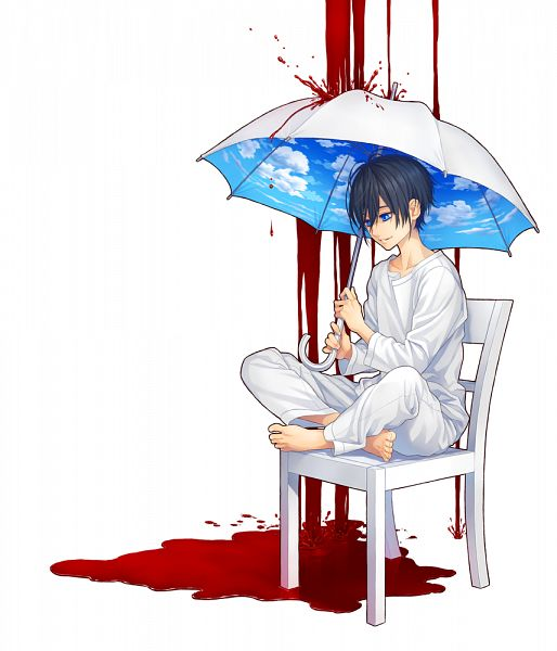 Tags: Anime, Pixiv Id 13988756, Sky Print, Sky Umbrella, Puddle of Blood, Puddle, Pixiv, Original, Mobile Wallpaper