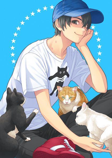 Tags: Anime, Pixiv Id 13988756, Animal on Lap, Pixiv, Original