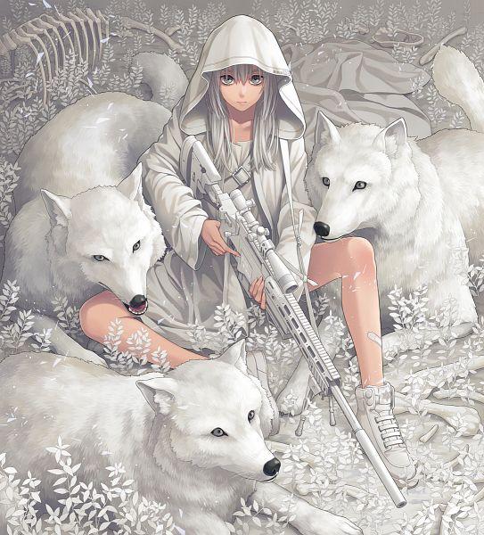 Tags: Anime, Pixiv Id 13988756, Sniper Rifle, White, Pixiv, Original
