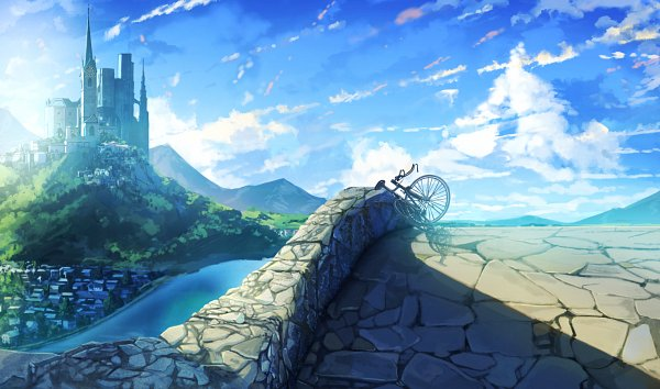 Tags: Anime, Pixiv Id 15450186, Village, Original, Facebook Cover, Pixiv