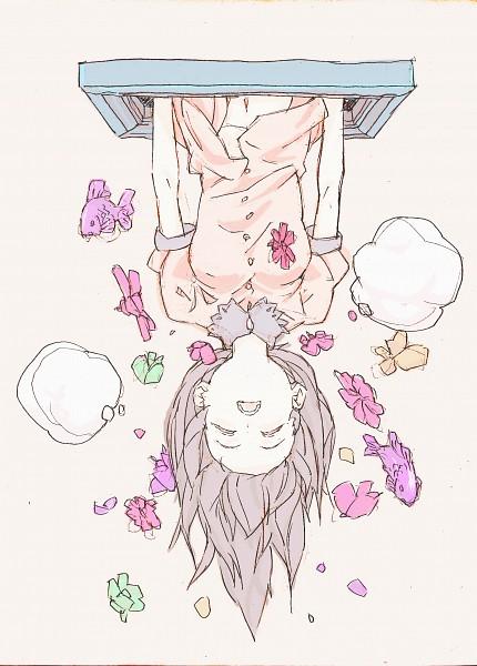 Tags: Anime, Pixiv Id 160799, Original, Sketch, Pixiv