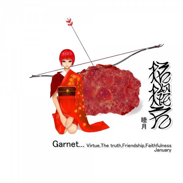 Tags: Anime, Garnet, Birthstone, Pixiv, Original