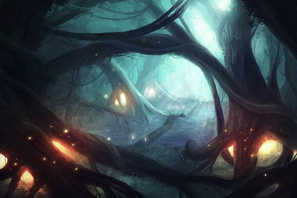 Tags: Anime, Pixiv Id 2109890, Under A Tree, Fireflies