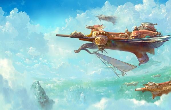 Tags: Anime, Pixiv Id 2109890, Flying Ship