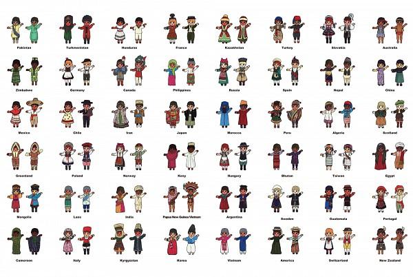 Tags: Anime, Pixiv Id 297582, Korean Clothes, Polish Clothes, Aodai, Indian Clothes, Songkok, Duangua, Nepal, Native American Clothes, Hanbok, Vietnamese Clothes, Russian Clothes
