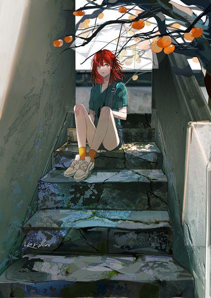 Tags: Anime, Pixiv Id 3130891, Sitting On Stairs, Pixiv, Original