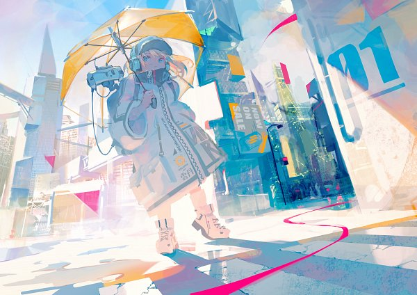 Tags: Anime, Pixiv Id 31430204, Transparent Object, See Through Umbrella, Yellow Umbrella, Pixiv, Original, Wallpaper