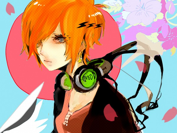 Tags: Anime, Pixiv Id 3151396, Red Sun Motif, Lightning Bolt (Symbol), Pixiv, Original
