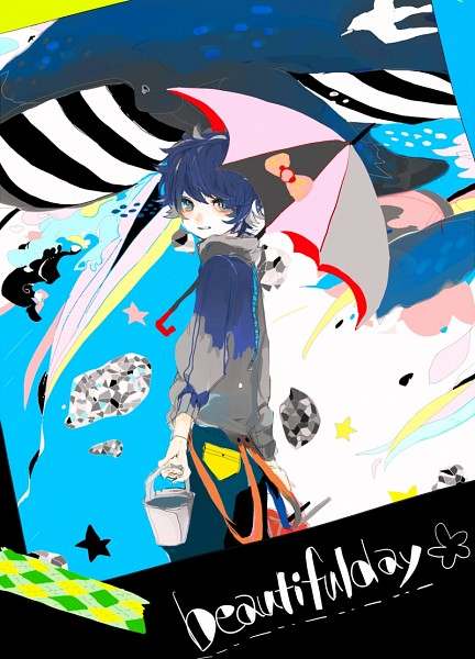 Tags: Anime, Pixiv Id 3151396, Whale, Bucket, Abstract Background, Fanart, Fanart From Pixiv, Pixiv
