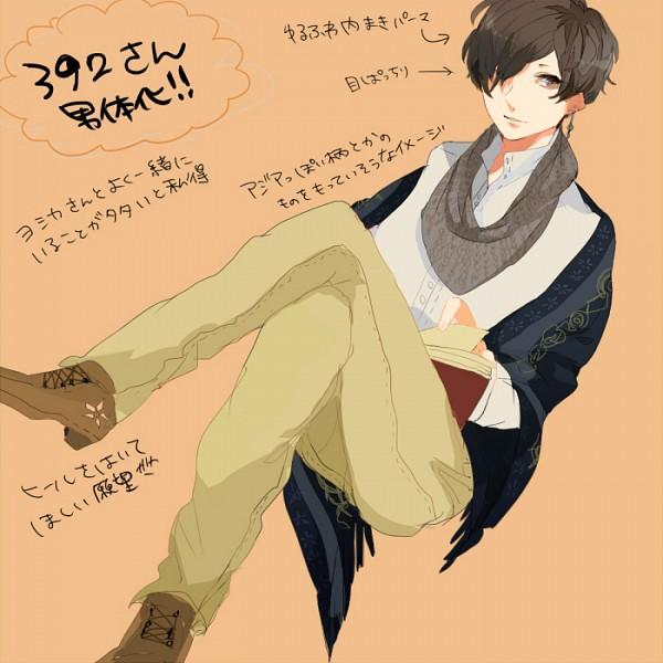 Tags: Anime, Pixiv Id 3151396, Beige Background, Pixiv, Original, Sketch