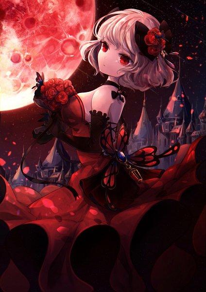 Tags: Anime, Pixiv Id 31637240, Red Moon, Blue Gem, Original, Pixiv