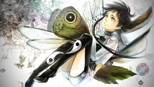 Tags: Anime, Pixiv Id 323382, Insect Wings, Yin Yang (Symbol), Wallpaper, Pixiv, Facebook Cover, Original