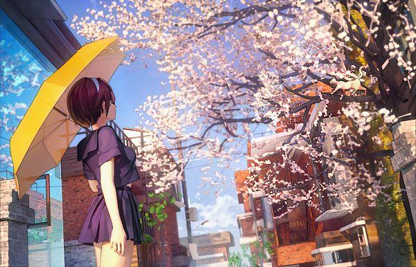 Tags: Anime, Pixiv Id 3778332, Yellow Umbrella, Pixiv, Original